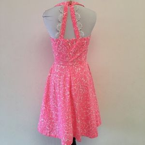 Lilly Pulitzer ZO Dress Cosmo Pink Lace Size 0